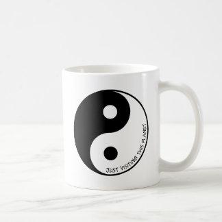 Taza De Café Apenas visitar este planeta