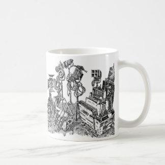 Taza De Café Apretón y eléctrico cinematográficos