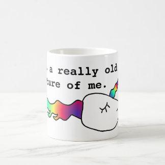 Taza De Café Aquí está una vieja imagen de mí unicornio