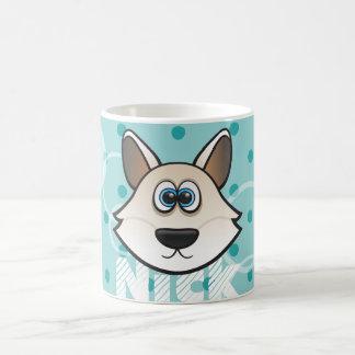 Taza De Café Arctic genial perro raposero Custom Color Circles