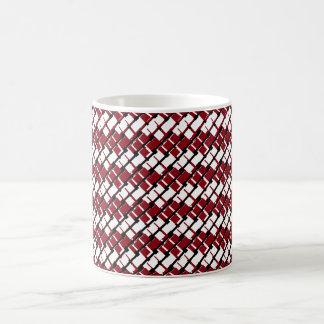Taza De Café Argyle rojo y blanco único y fresco diseñó el