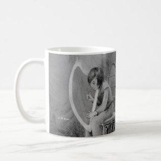 Taza De Café Arpa del claro de luna, tocada para el rey del
