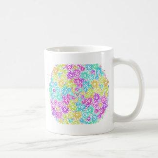 Taza De Café Arreglo colorido floral