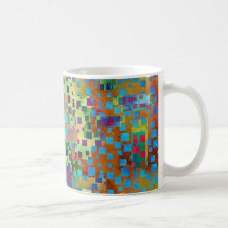 Taza De Café Arte abstracto colorido de Digitaces con los