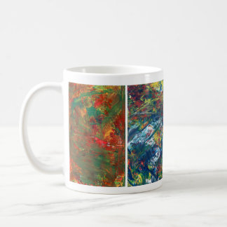 Taza de café, arte abstracto de acrílico
