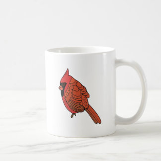 Taza De Café Arte cardinal del pájaro