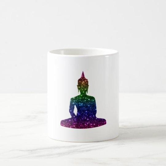 Taza De Café Arte de Buda de la chispa del arco iris