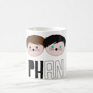 Taza De Café Arte de Dan y de Phil Phan