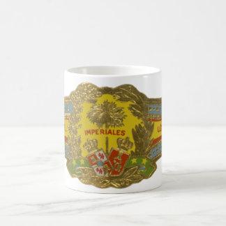 Taza De Café Arte de la etiqueta del cigarro del vintage,