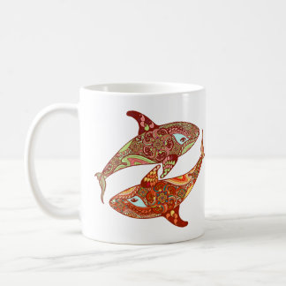 Taza De Café Arte del amor de la ballena