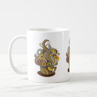 Taza De Café arte del Artístico-doodle-dibujo