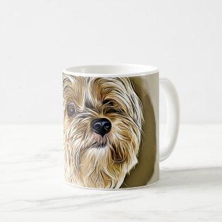 Taza De Café Arte digital lindo del terrier de Yorkshire