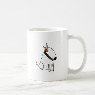 Taza De Café Arte divertido del perro de bull terrier