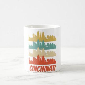 Taza De Café Arte pop retro del horizonte de Cincinnati OH