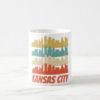 Taza De Café Arte pop retro del horizonte de Kansas City MES