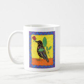 Taza De Café Arte popular mexicano del cuervo de Oaxacan y del