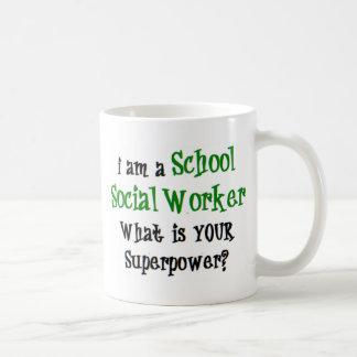 Taza De Café asistente social de la escuela