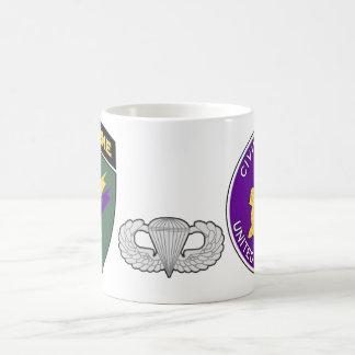 Taza De Café Asuntos civiles SSI aerotransportado y emblema 1