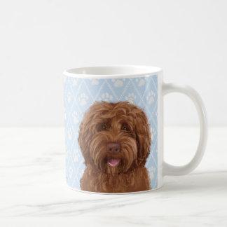 Taza de café australiana del labradoodle