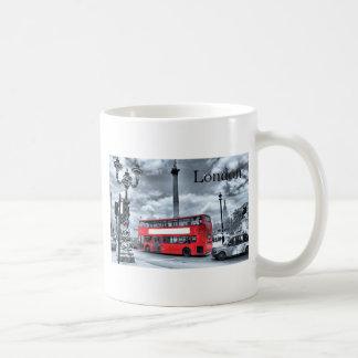 Taza De Café AUTOBÚS de LONDRES en negro y el blanco (St.K)