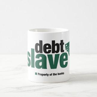 Taza de café auxiliar de la deuda