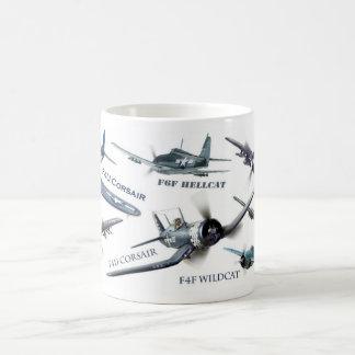 "Taza De Café Aviation Art Mug "" American warplane of WWII"""