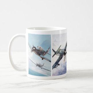 """Taza De Café Aviation Art Mug """"Fighter of World War II"""""""