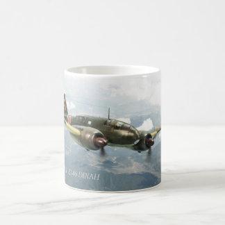 "Taza De Café Aviation Art mug ""Mitsubishi Ki-46 DINAH"""