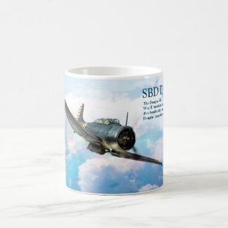 "Taza De Café Aviation Art Mug ""SBD Dauntless"""