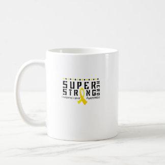 Taza De Café Ayuda fuerte de la conciencia del cáncer de la