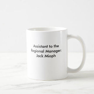 Taza De Café Ayudante al encargado regional: Jack Mioph