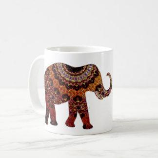 Taza de café azteca del elefante