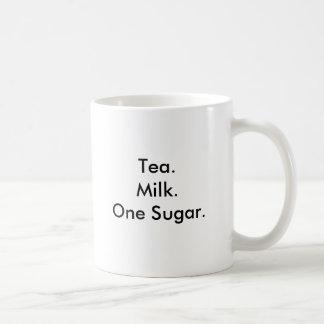 Taza De Café Azúcar de Tea.Milk.One