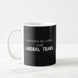 Taza De Café Azucaro mi café con los rasgones liberales - mejor