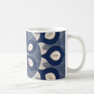 Taza De Café Azul-Crema-Maholika Mug2