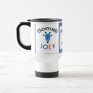 Taza de café azul de la cabra de Billy de Joe