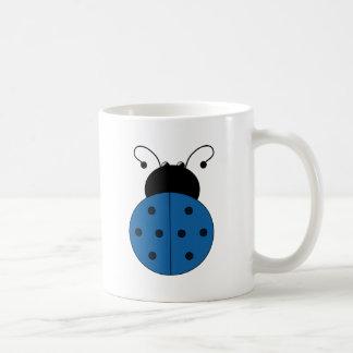 Taza De Café Azul de la mariquita