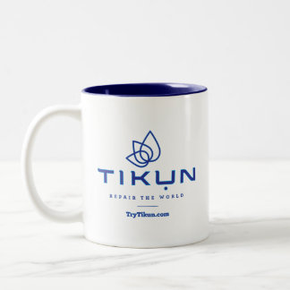 Taza de café azul de Tikun