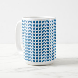 Taza De Café Azul-Mariposa--Delicado-Vintage-Tazas y más