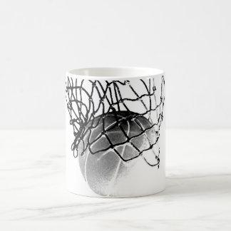 Taza De Café Baloncesto negro y blanco