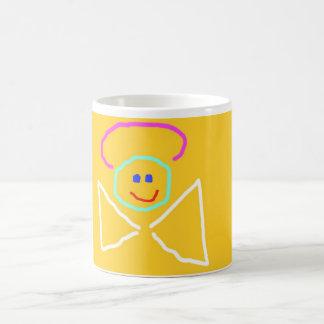 Taza de café banal del ángel