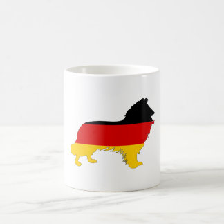 Taza De Café Bandera alemana - border collie