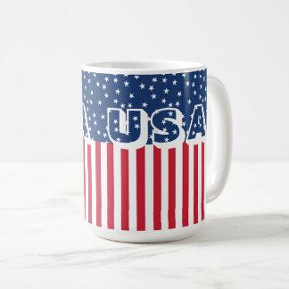 Taza De Café Bandera americana 4ta de las barras y estrellas