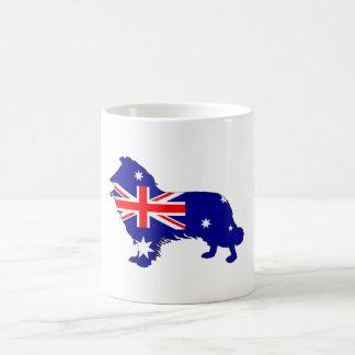 Taza De Café Bandera australiana - border collie