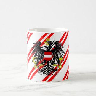 Taza De Café Bandera austríaca de las rayas