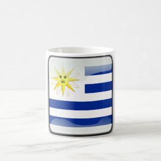 Taza De Café Bandera brillante de Uruguay