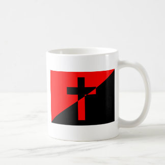 Taza De Café Bandera cristiana del cristianismo de la anarquía