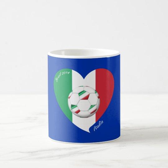 Taza De Café Bandera de ITALIA FÚTBOL y equipos nacionales 2014
