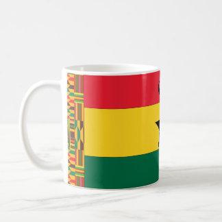 Taza De Café Bandera de la estrella del negro de Ghana