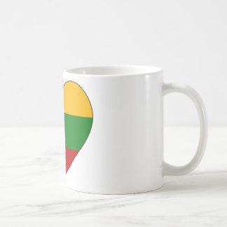 Taza De Café Bandera de Lituania simple